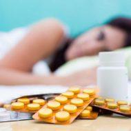 таблетки перед кроватью